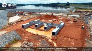 Pont conteneurs de dérivation provisoire